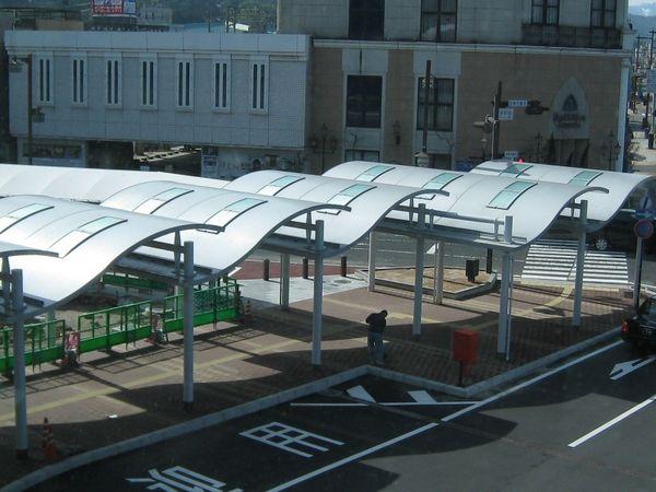 倉吉駅南口駅前広場歩廊整備工事(2工区)